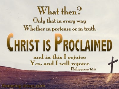 Philippians 1:18 Christ Is Proclaimed (gold)